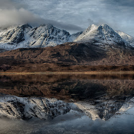 Loch Slapin by Peter Hallam - Landscapes Mountains & Hills ( scotland, uk, highlads, skye, sea )