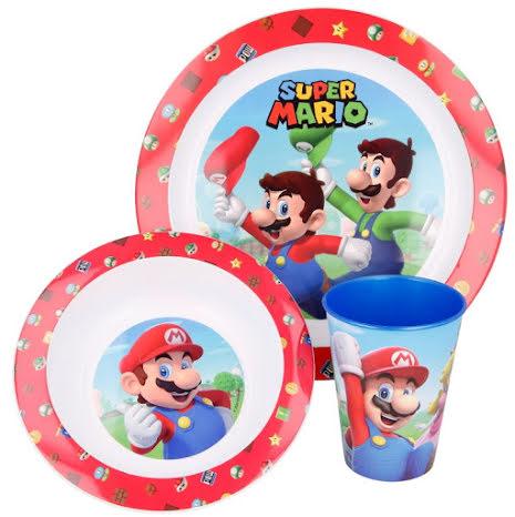 Super Mario Barnservis Set, 3-delar