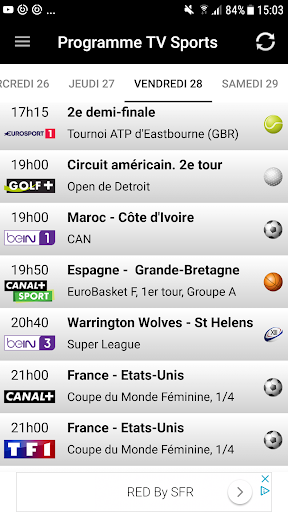 Programme TV Sports 2.1.4 screenshots 1