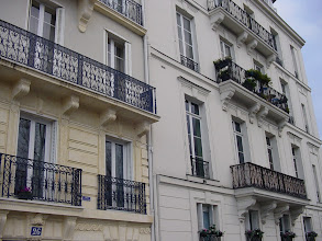 Photo: On the third principal street, the Quai de Bethune, almost every one of the 1640's buildings has wrought iron balconies from Le Vau's architectural plans.