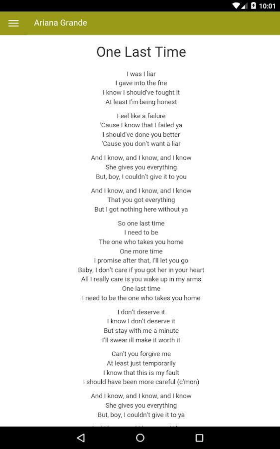 Lyric ariana grande piano lyrics : Ariana Grande Lyrics - Android Apps on Google Play