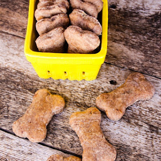 Apple & Sweet Potato Peanut Butter Dog Biscuits