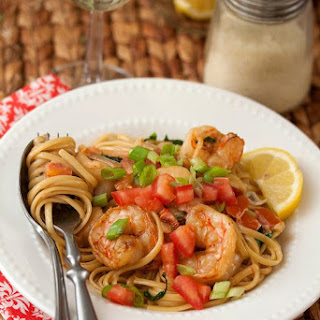 Shrimp in Tomato-Spinach Cream Sauce