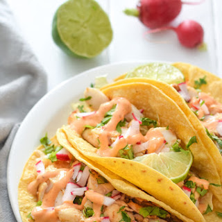 Fish Tacos with Chipotle Lime Crema.