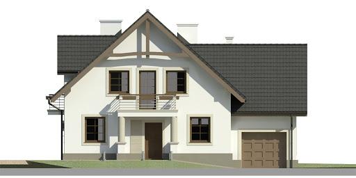 Dom przy Cyprysowej 40 - Elewacja przednia