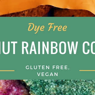 Dye-Free Coconut Rainbow Cookies (Gluten Free, Vegan).