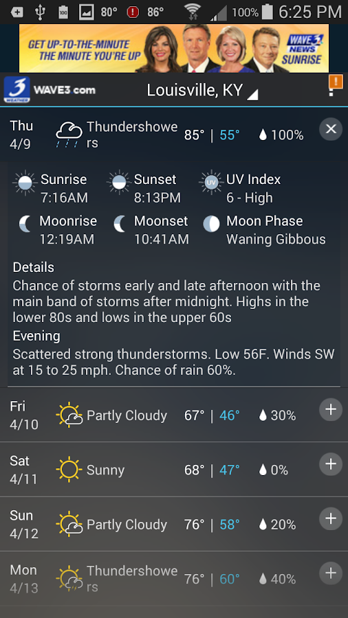 WAVE 3 Louisville Weather - screenshot