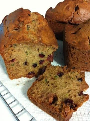 cranberry zuchini bread