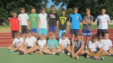 Photo: Chłopcy przed biegiem na 1000 m