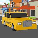 blocky cars taxi driver sim icon
