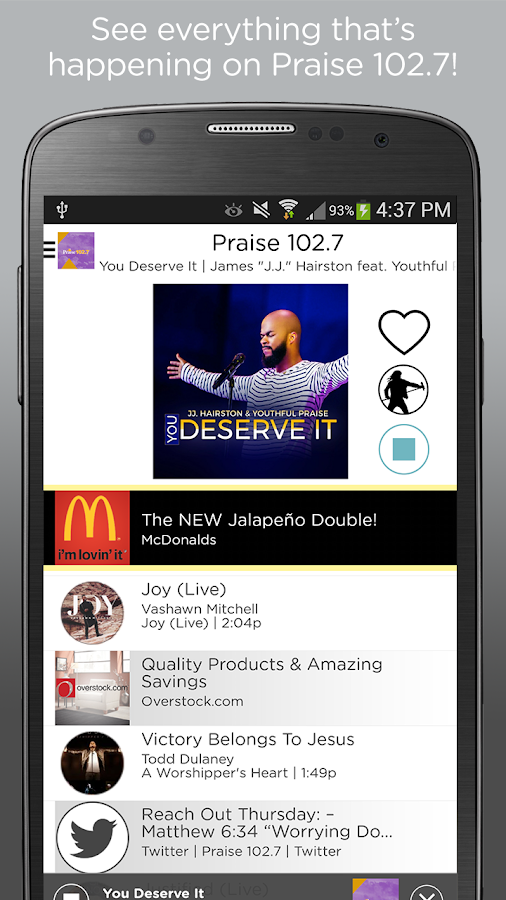 Praise 102.7- screenshot