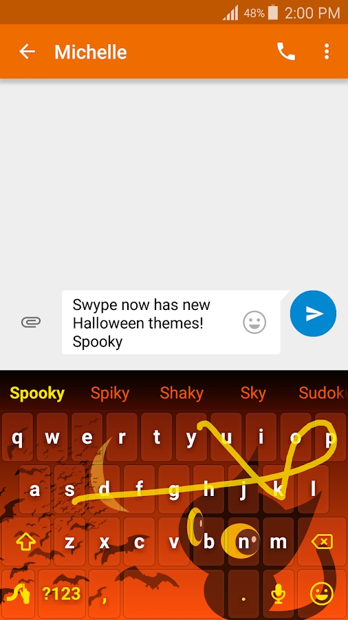 Swype Keyboard Trial- screenshot