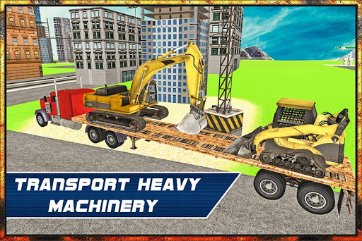 Heavy Machine Transport Truck