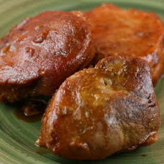 Teriyaki and Apricot Pork Chops in the Slow Cooker.