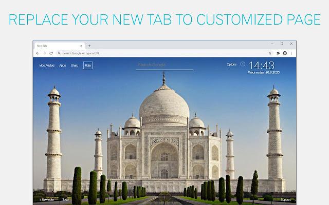 Taj Mahal Wallpaper HD Taj Mahal New Tab