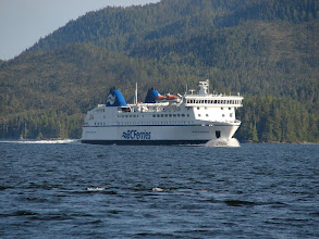 Photo: A BC Ferry heading north up Grenville Channel.