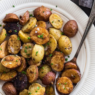 Five Spice and Garlic Roasted Potatoes.
