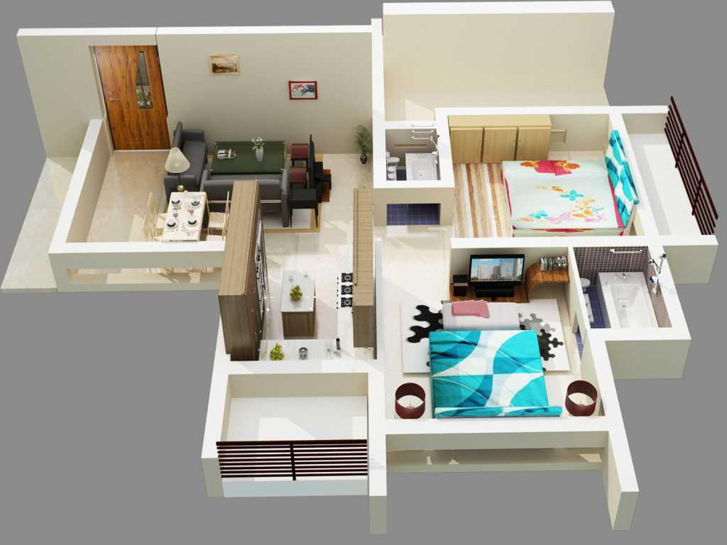 3d home floor plan designs screenshot - Design A House App
