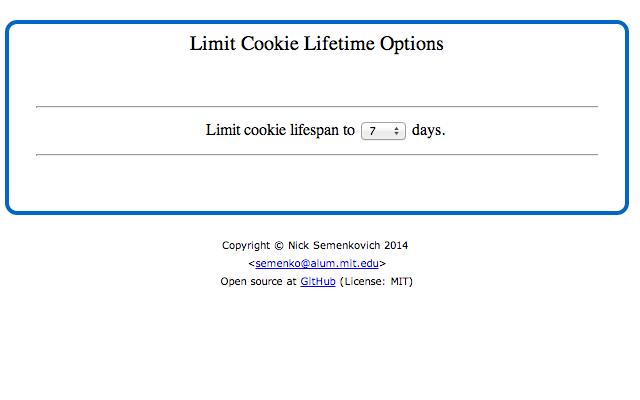 Limit Cookie Lifetime