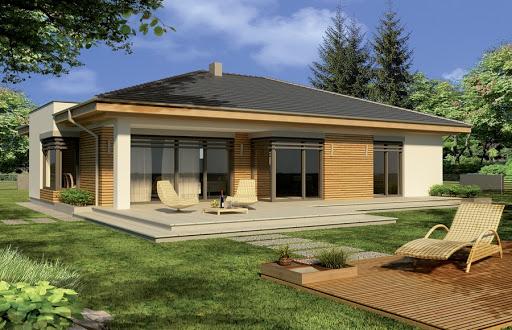 projekt Alabama 3 wersja C z pojedynczym garażem