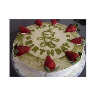 Green Tea Mousse Cake.