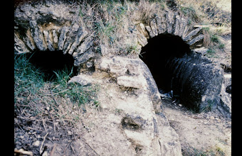 Photo: Le Grès: right the aqueduct channel (note the sinter depsition), left an emissarium channel for the lake/swamp nearby, both from Roman origine