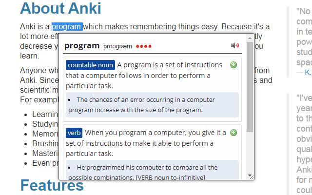 Online Dictionary Helper