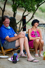 Photo: Middle aged couple laughing while on a rafting trip down Hell's Canyon of the Snake River, ID / OR. Hell's Canyon is the deepest canyon in North America.