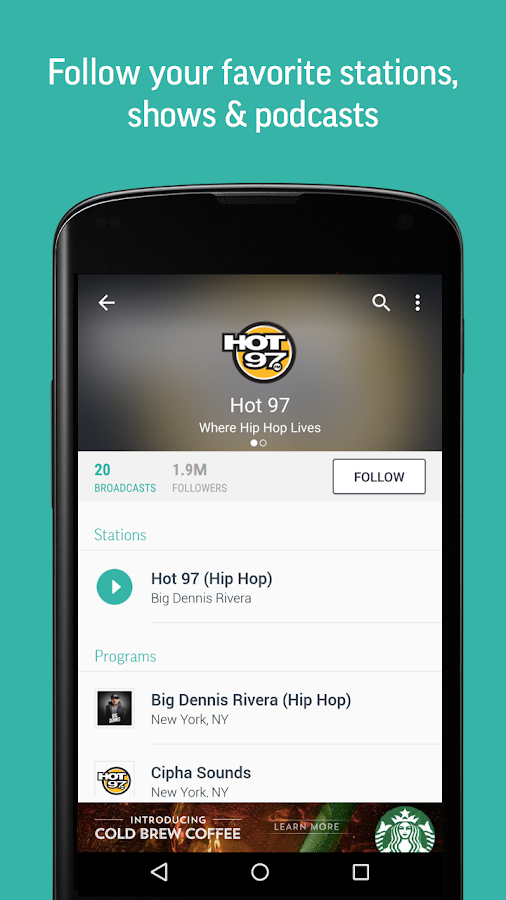 TuneIn Radio - Radio & Music- screenshot
