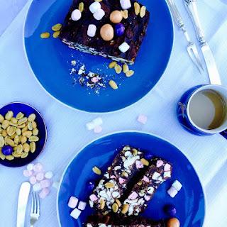 Marblelled Chocolate, Mini Marshmallows And Peanut Bars.