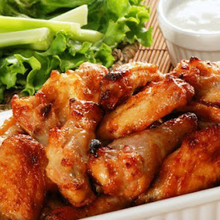 Chicken Wings and Drumsticks in Honey, Soy, and Garlic Sauce.