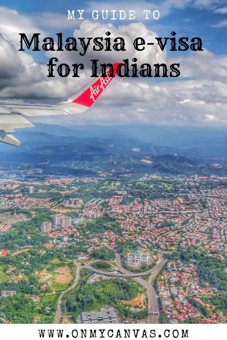 sky view kuala lumpur malaysia from airplane used for pin image for malaysia evisa for indians