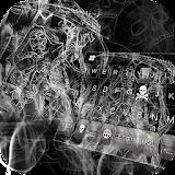 Keyboard - Skull Grim Reaper Free Emoji Theme