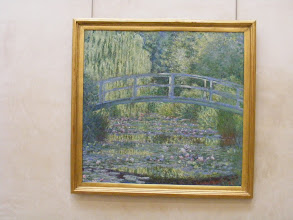 Photo: Here, one of at least at least 17 views which Monet painted of the footbridge over the pond in his garden at Giverny.