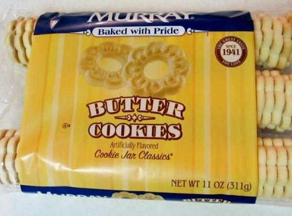 Place butter cookies in a plastic ziploc and crush with your hands. You want...