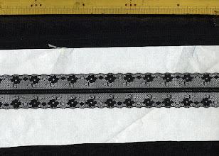 Photo: №5150-2ラッセル黒:巾35mm