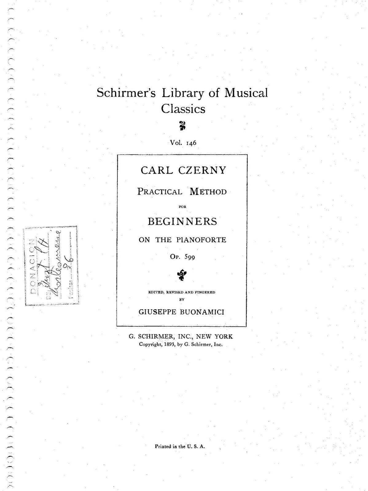 دانلود کتاب پیانو کارل چرنی اپوس ۵۹۹