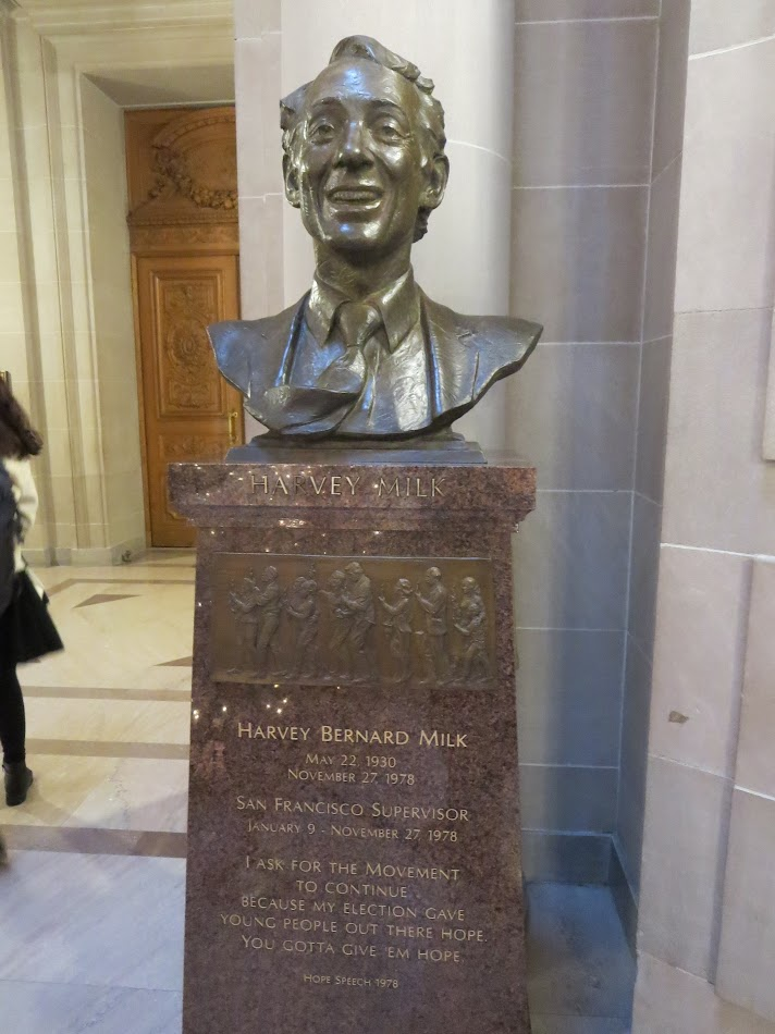 Harvey Milk statue in San Francisco City Hall