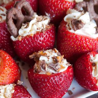 Rum Cheesecake Stuffed Strawberries.