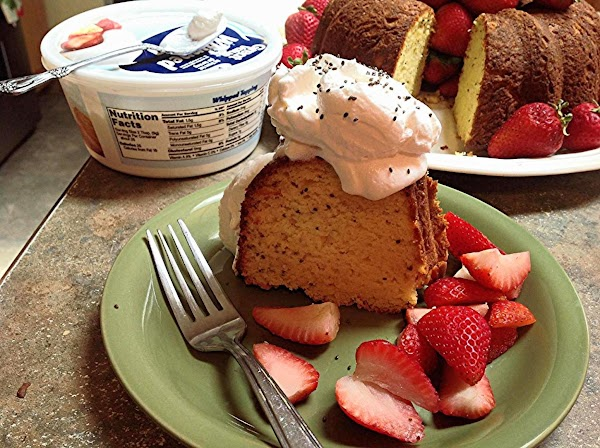 Slice and serve with Fresh Strawberries or other fruit of your choice and Whipped...