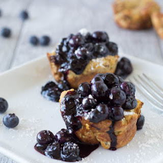 French Toast Muffins with Blueberries.