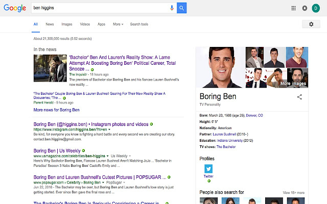 Boring Ben