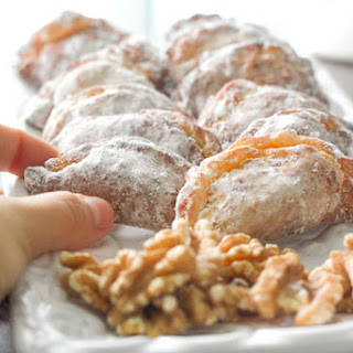 Ghotab / Qottab Pastry (Traditional Iranian Almond and Walnut-Filled Crescents).