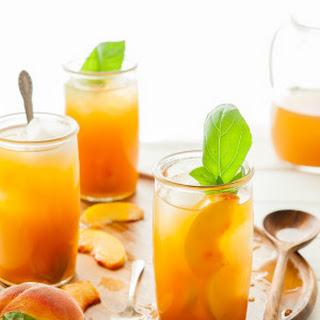 Immune-Boosting Peach Iced Tea.