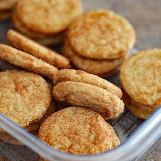 Soft and Chewy Vegan Snickerdoodle Cookies.