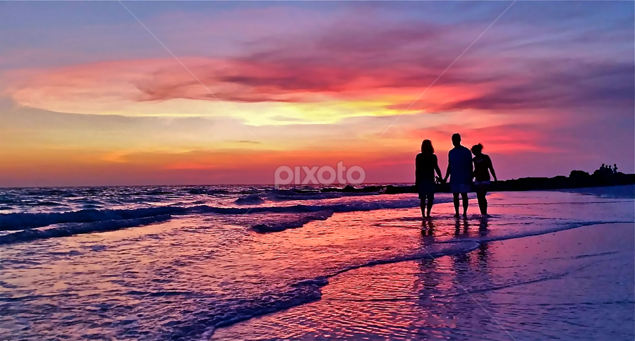 { Friendly Pilot and Family splashing in The Gulf }  by Jeffrey Lee - Landscapes Sunsets & Sunrises ( { friendly pilot and family splashing in the gulf },  )