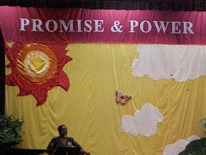 Photo: Backdrop designed by Rebecca Clark, Columbus Central Christian Church.