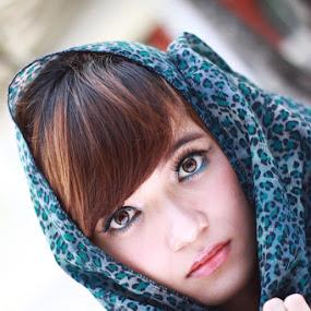look at me.. by Arie Sudharisman II - People Portraits of Women