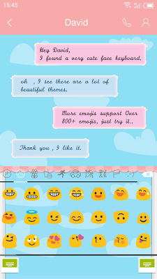 Emoji Keyboard-The Scenery - screenshot