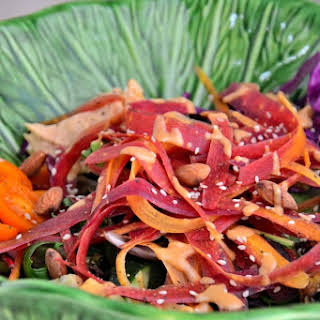 Confetti Ribbon Carrot Salad {Gluten-Free, Dairy-Free, Grain-Free, Vegan}.